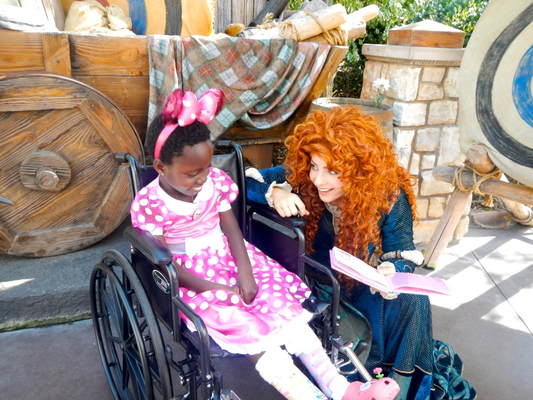This was our first princess signature. Merida from Brave took lots of time making Rebeka feel special.