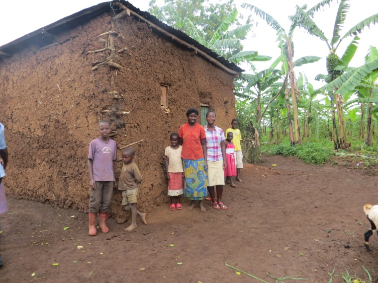 This is our sponsored child Ruth's home.