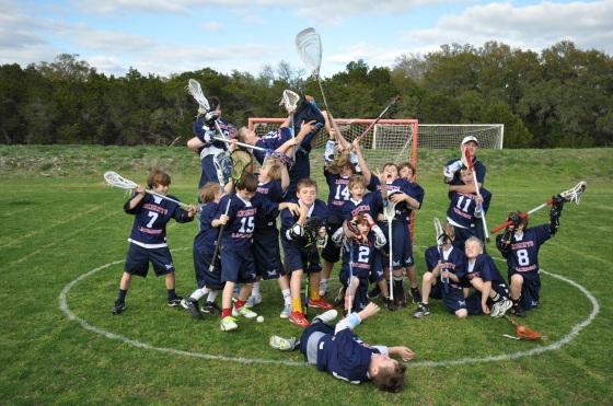 Benji's 2012 lacrosse team.